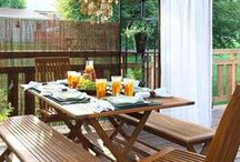 Patio Privacy / Ways to create privacy in a backyard or on a patio for outdoor entertaining and enjoyment