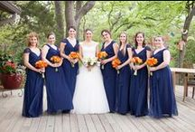 Navy & Orange Wedding / Navy & Orange Wedding  www.significanteventsoftexas.com