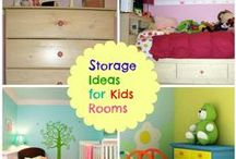 Storage for Kids Rooms / Smart organization and storage beds and other furniture can add extra space in even the smallest of children's rooms. / by Mom Home Guide
