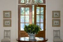 Entry Hall / ideas for decorating an entry hall or room