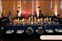 Navy & Gold Wedding / http://significanteventsoftexas.com/