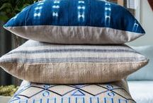 Pillow OBSESSION / Pillows are a simple inexpensive way to change a look of a room. I love adding texture, color and pattern to furnishings.