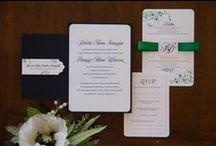 Black, White, & Green Wedding
