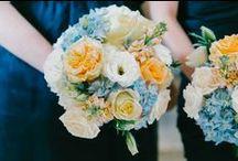 Peach & Blue Wedding