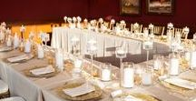 Gold, White, & Clear Wedding
