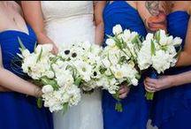 Blue, Green, & Ivory Wedding