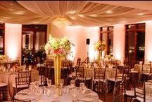 Peach & Gold Wedding / http://significanteventsoftexas.com