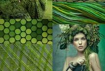 color palettes and textures / Inspirations for color schemes, textures and pattern combinations
