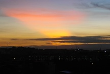 Serene Sunset and Sunrise view / I can see sunset and sunrise view from my house window. I love my life.