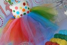 Rainbow  Parties / Ideas using rainbow colors for those special events, such as a Birthday party or family gatherings. / by Anita Buchanan