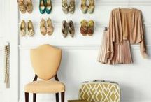 Shoe Organization / Closet organization for women. Shoe and accessory storage solutions.