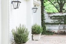 Outside time / Outdoor space inspiration for our now or someday home