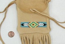Medicine Bag / From small neck bags to large purse sized bags, most made by Native American artists. Wonderful to hold something precious under your shirt or carry treasures cross body.