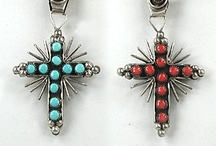 Navajo and Zuni Crosses / Beautiful crosses made by Native American artists