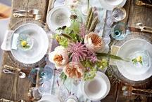 Table Setting Love / Beautiful table settings.