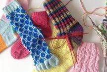 Strikkede Sokker -knitted socks / En samling af strikkede sokker og strømper. Både egne og andres.