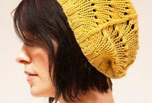 Strikkede huer - knitted hats