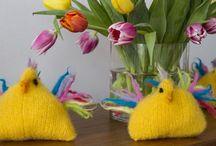 Påske strik - Easter knits / Inspiration til påske