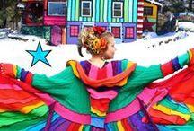 Farver Regnbue - Rainbow colours / Inspirations billeder til at arbejde med regnbuefarver