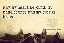 Inspire  / Words to encourage.