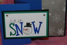 Creative Cards- Snowmen / Holiday Cards using stamps and Punches / by Kathy McNutt