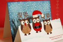 Creative Cards - Santa and Reindeer / Holiday Cards using stamps and punches / by Kathy McNutt