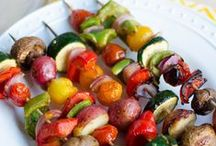 Served on a Skewer / Main dishes, veggies and desserts on sticks / by Kathy McNutt
