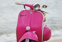 Pink Paint | Vintage Vespa Scooters / Vintage Vespa Scooters in Pink, Purple Colours