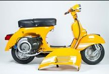 Yellow Paint | Vintage Vespa Scooters / Vintage Vespa Scooters in Yellow, Gelb, Giallo, Jaune, Amarillo Colours