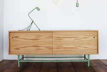 industrial / Recycled materials make furniture.