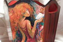 My Works / Ahşap boyama / Decorative painting