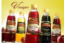 Vinegars / Pompeian produces America's most popular vinegars including Red Wine Vinegar, delicious Balsamic Vinegar and zesty variations infused with Pomegranate, Açai, and Blueberry. Pompeian vinegars make vinaigrettes, marinades and sauces better.  / by Pompeian Inc