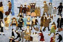 knitting stitch embroidery / knitting stitch embroidery