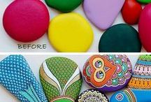 Painted Rocks / How to paint rocks and create painted rock projects.  / by Bellissima Kids