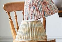Collaboration: A Rum Fellow / A collection of handmade lampshades, in fabrics by A Rum Fellow, exclusive to Copper & Silk.