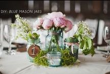 Mason Jars / You can't have a rustic wedding without mason jars! Mason jars are the perfect way to add a little southern charm to your wedding decor!