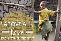 A Year of Inspiration / Every Sunday on Facebook, we post these designed images with inspirational verses and quotes. Click to learn more about each topic! / by World Vision USA