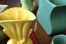 Retro Colorful Planters And Vases  / Funky and fun kitchen collectibles from my collection and gallery at Kitsch n Stuff. Be sure to visit http://cdiannezweig.blogspot.com/