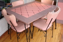 Retro Pink Kitchen /  In the pink with  pink kitchen collectibles and decor. Be sure to visit my blog: http://cdiannezweig.blogspot.com/