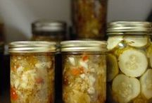 Puttin' up / Canning, fermenting, preserving, and dehydrating for the pantry.