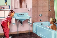 Retro Bathroom / Whimsical, colorful retro and vintage bathrooms. Visit my blog at  http://cdiannezweig.blogspot.com/ and my sitehttp://iantiqueonline.ning.com/