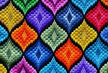 Bargello Needlepoint / Popular in the 70s,and back in interest, Bargello needlepoint pillows, hangings and kits  had colorful designs. Visit my blog http://cdiannezweig.blogspot.com/ and my site http://iantiqueonline.ning.com/
