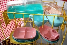 1950s Plastic Kitchen / Atomic age plastics in the kitchen. Visit my blog http://cdiannezweig.blogspot.com/ and my site http://iantiqueonline.ning.com/