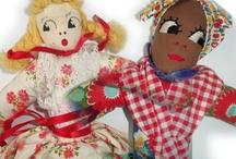 Kitschy Cloth Dolls / Delightful Retro cloth dolls. Visit my blog http://cdiannezweig.blogspot.com/ and my site  http://iantiqueonline.ning.com/