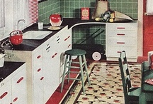 Kitschy Kitchens / Retro and vintage kitchens decoarting ideas . Visit my bklog   http://cdiannezweig.blogspot.com/ and my site http://iantiqueonline.ning.com/
