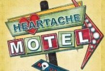 HEARTACHE MOTEL / Idea board for the mystery anthology book HEARTACHE MOTEL (@HeneryPress, December 10, 2013) by Terri L. Austin (DINERS KEEPERS, LOSERS WEEPERS); Larissa Reinhart (QUICK SKETCH), and LynDee Walker (DATELINE MEMPHIS). http://henerypress.com/books-humorous-mystery-series-book/heartache-motel/ / by Larissa Reinhart