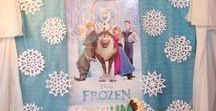 Disney Frozen Party Ideas / Disney Frozen Party Ideas - everything you need to plan the perfect Frozen party. Frozen cakes, Frozen themed food, Frozen crafts, Frozen printables, etc.