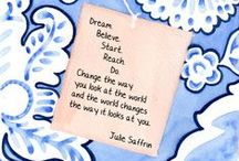"""Kissing the Shoreline: Quotes and Reflections to Live By / A board based on the quotes from Julie Saffrin's book, """"Kissing the shoreline: Quotes and Reflections to Live By,"""" a vibrant collection for the tides of life"""