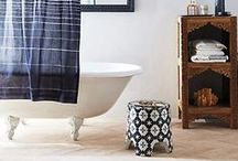 Bathroom Design Ideas / Beautiful bathroom ideas. Interior design. Styled vignettes in your bathroom with this accessories. Stylish bath decor for your home. Find inspiration  from old fixtures or bold wallpaper. These beautiful bathroom ideas will give one of the smallest rooms in your home big style.  / by House of Hipsters - Home Decor, Interior Design, and Styling Expert with Vintage Flea Market Finds