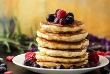 Breakfast Time / Waffles, Sweet Rolls, Eggs, and Oatmeal. All kinds of breakfast!